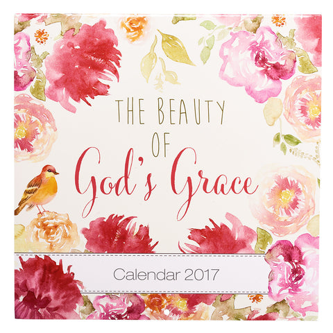 2017 Large Wall Calendar - The Beauty of God's Grace
