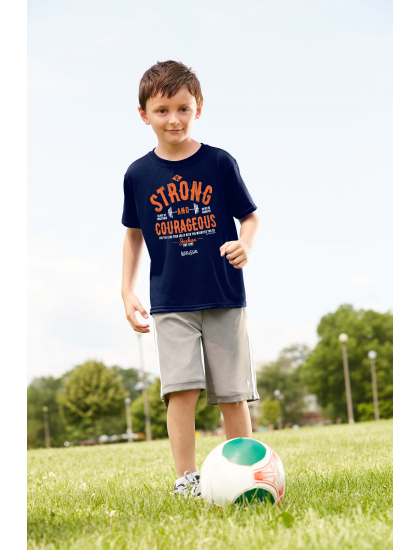 Strong and Courageous - Boy's Christian T-Shirt