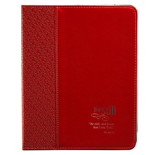 "Red ""Be Still"" Inspirational Tablet Case / Cover - Psalm 46:10"