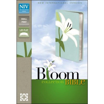 NIV, Bloom Collection Bible, Compact, Imitation Leather, White/Blue, Red Letter Edition