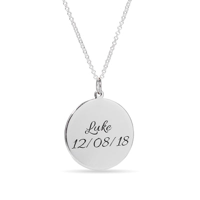 Photo Engraved Disc Necklace