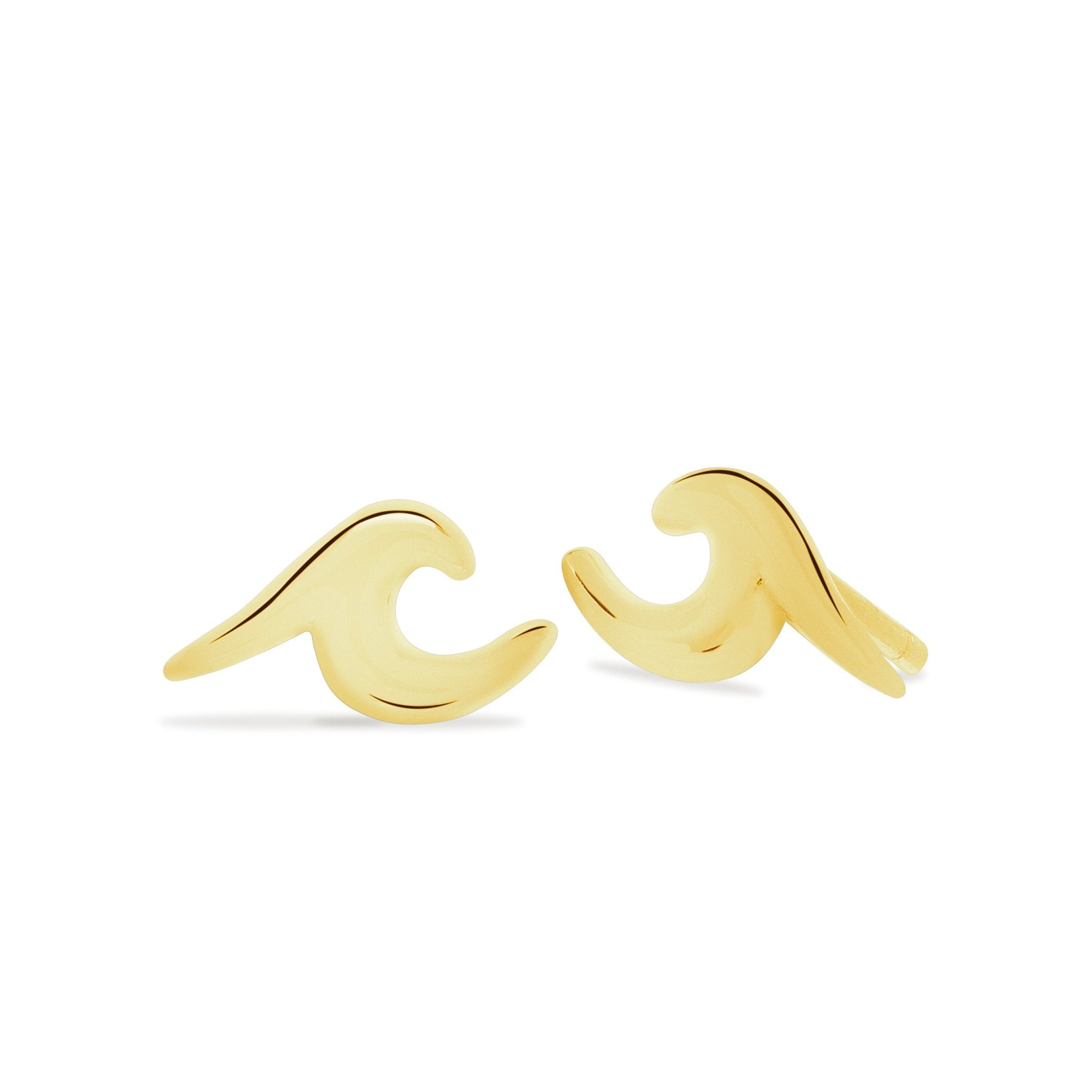 Earrings - Wave Stud Earrings