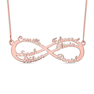 Necklace - Infinity Name Necklace - 6 Names