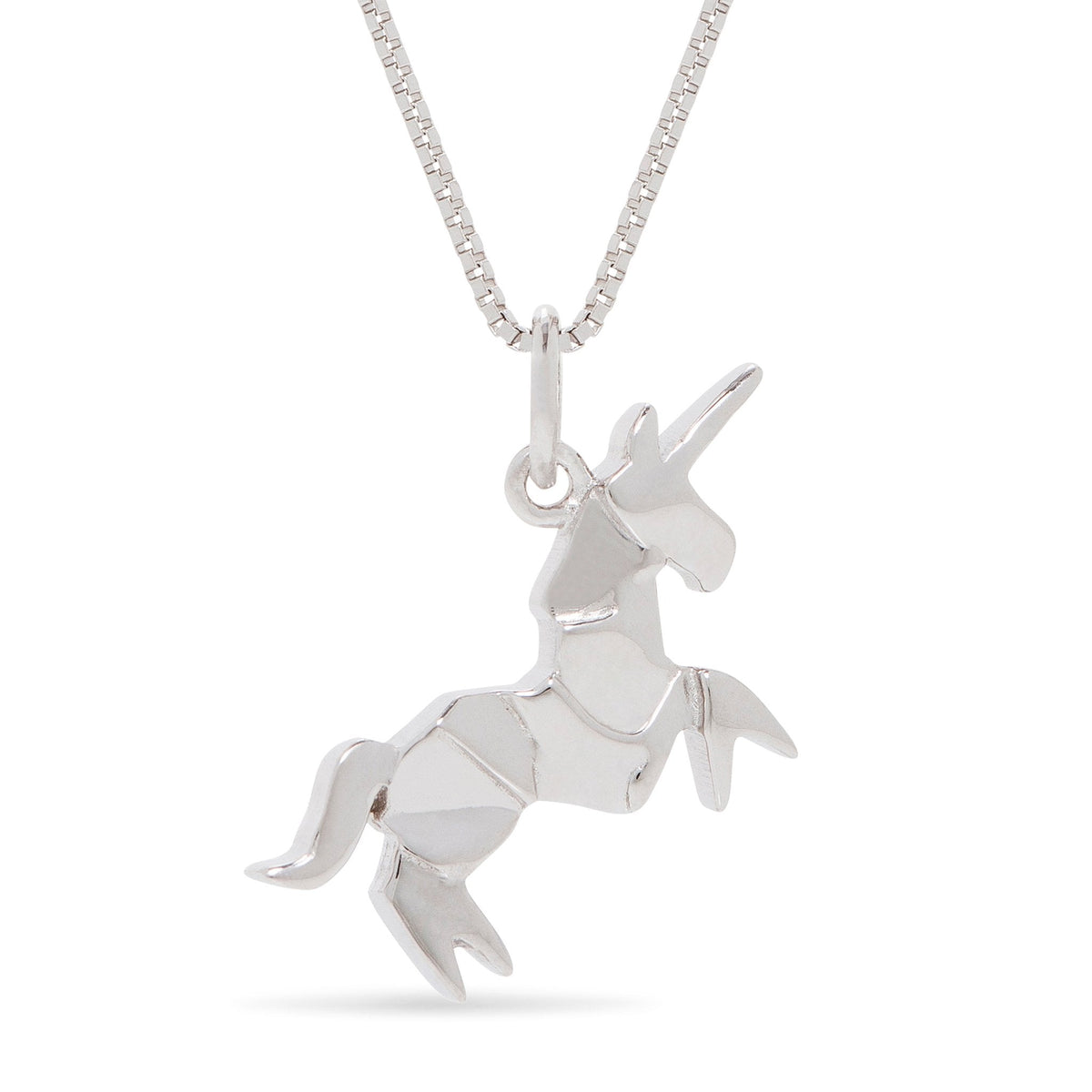 Origami Style Unicorn Necklace