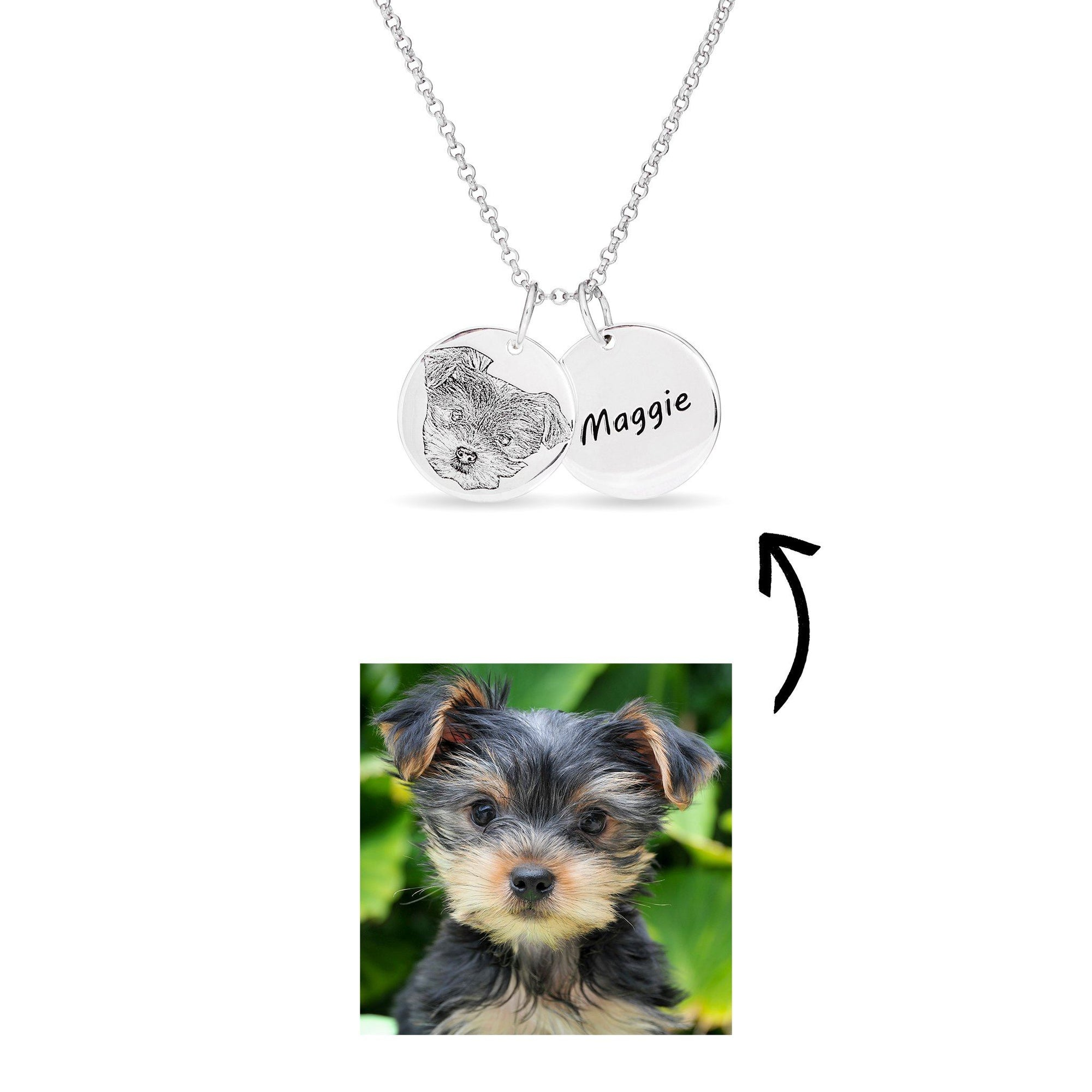 Necklace - Personalised Pet Double Disc Necklace