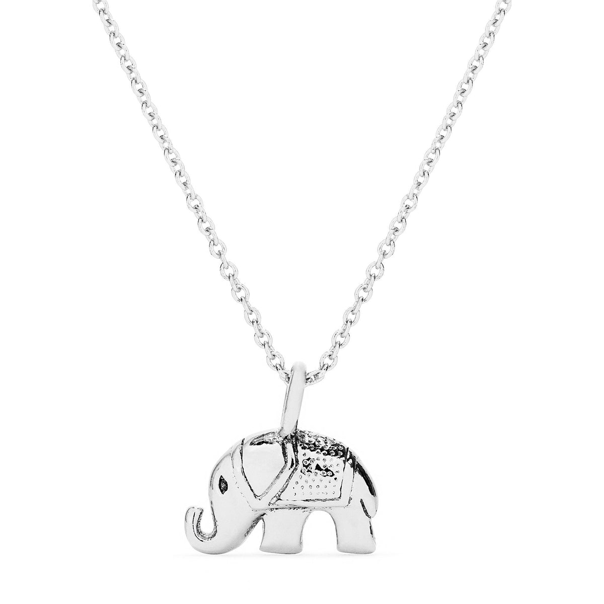Necklace - Silver Elephant Necklace - FREE