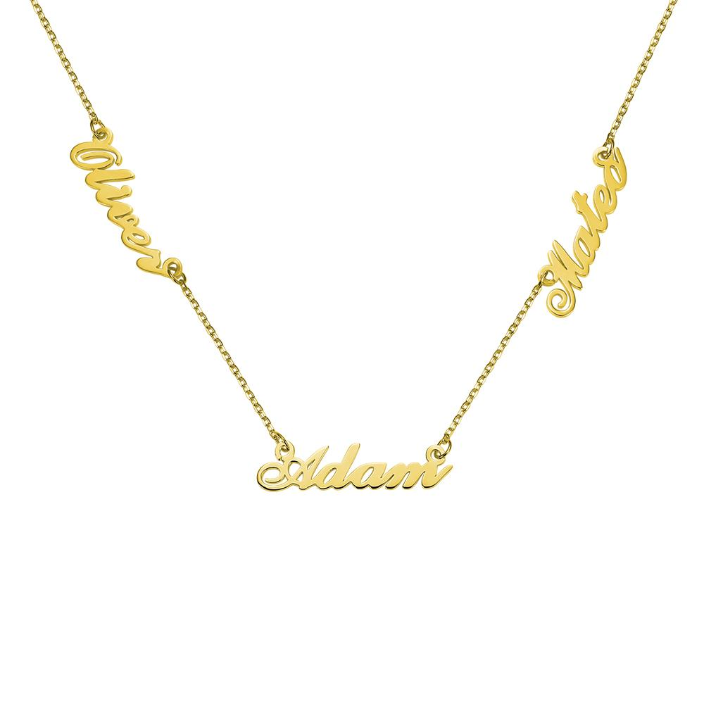 Necklace - Triple Name Necklace
