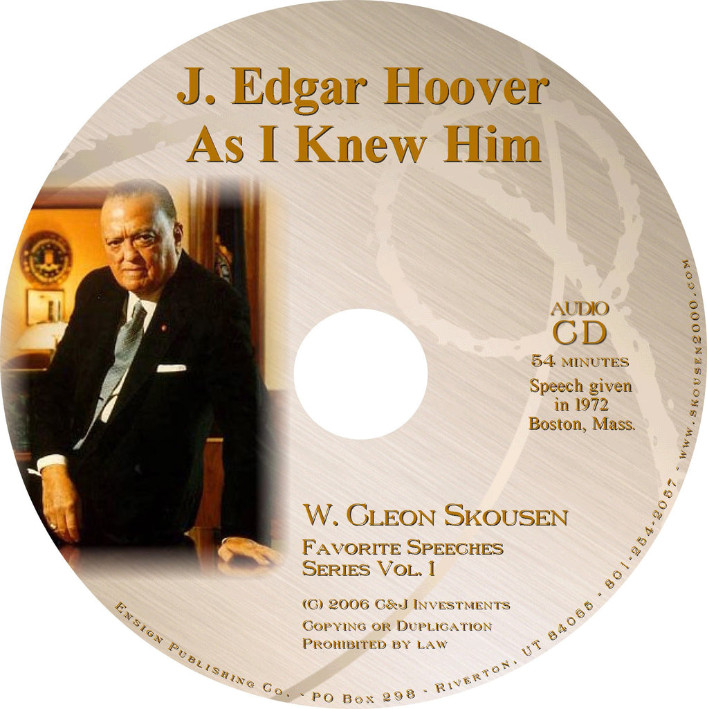 J Edgar Hoover As I Knew Him Speech