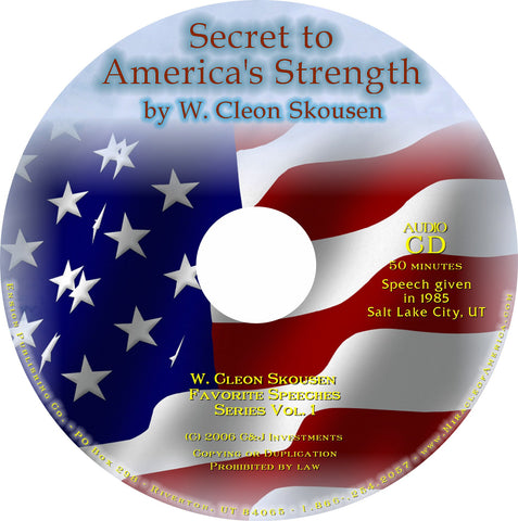 Secret to Americas Strength Speech