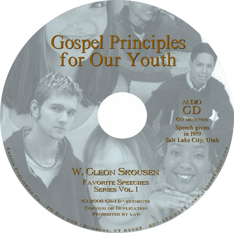 Gospel Principles for Our Youth Speech