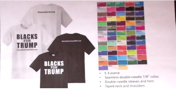 (A5.) Blacks For Trump T-Shirt