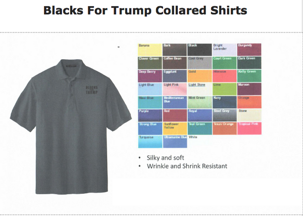 Blacks For Trump Collared Shirts