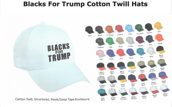 Blacks For Trump Cotton Twill Hats