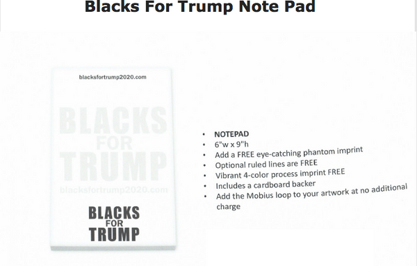 Blacks For Trump Note Pad