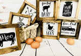 Farmhouse inspired signs