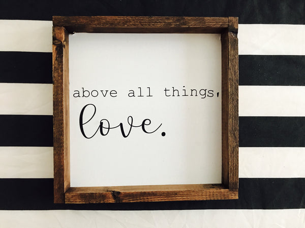 12x12 above all things, love