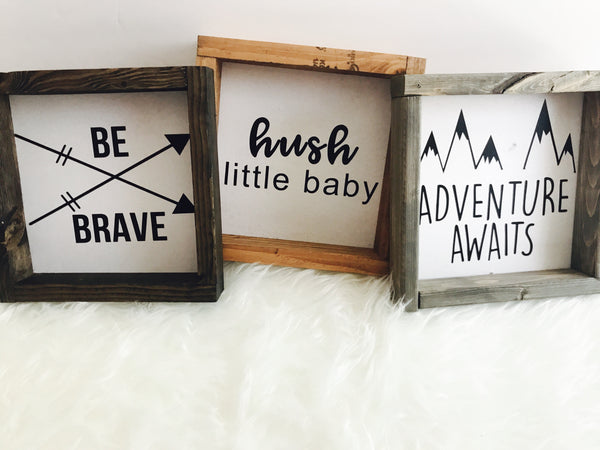 Baby and kid inspired signs