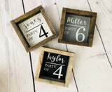 Personalized Party Of Sign 6x6