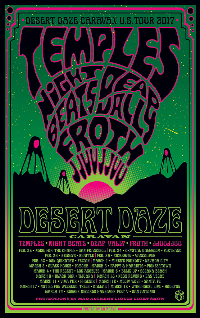 Desert Daze - Caravan Tour - February, March 2017
