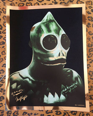 Sleestak Signed by Sid and Marty Krofft