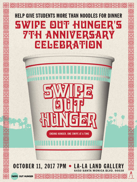 SWIPE OUT HUNGER 25% of the proceeds will go to benefit the organization
