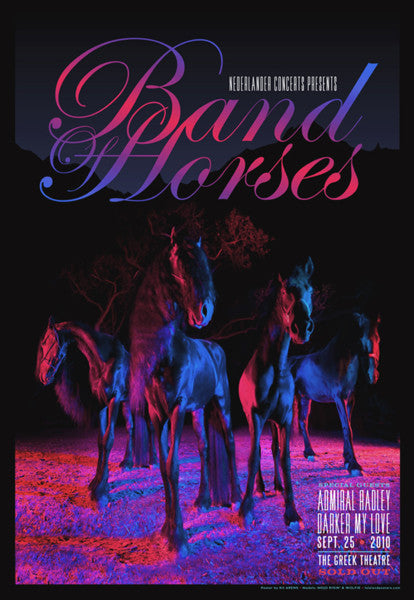 BAND OF HORSES W/ DARKER MY LOVE & ADMIRAL RADLEY  The Greek Theater