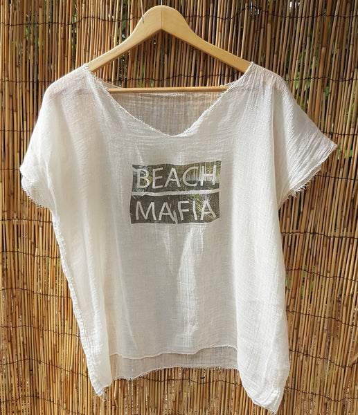 Cotton and Linen Blend Shirt - Beach Mafia 2