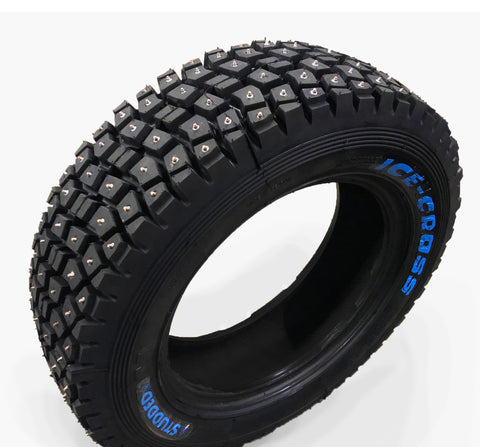 Winter ice studded tires for racing off road