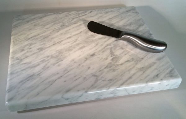 "Cheese Board - White Carrara Marble 10"" x 8"" - Cheese Platter"