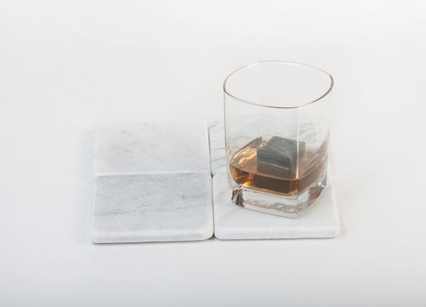 Whiskey Stones Soapstone Rock Ice Cubes - Large Size - Set of 4
