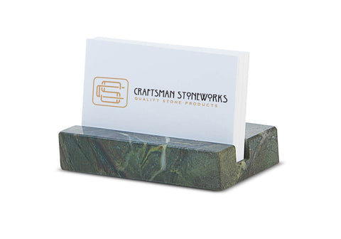 Business Card Holder - Green Quartzite