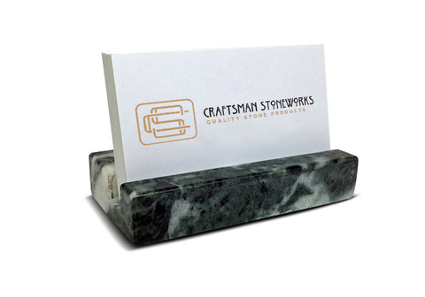 Business Card Holder - Green Marble