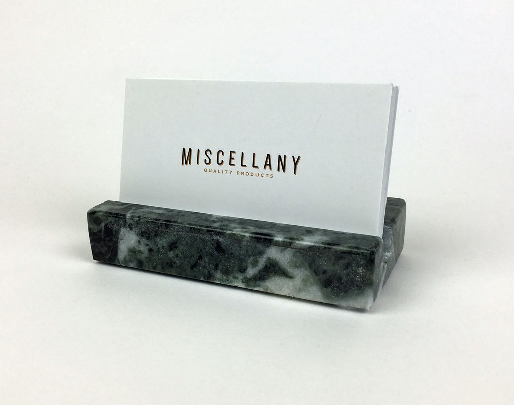 Business Card Holder - Green Marble – Craftsman Stoneworks