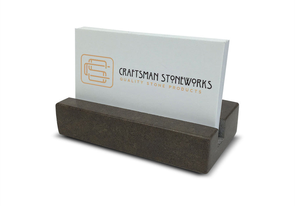 Business Card Holder - Brown Quartz