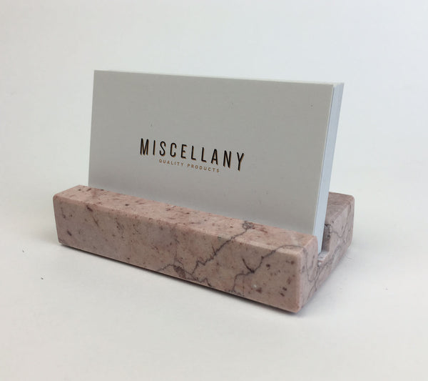 Business Card Holder - Pink Marble