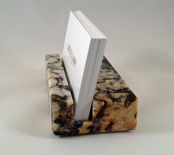 Business Card Holder - Multi-Color Granite