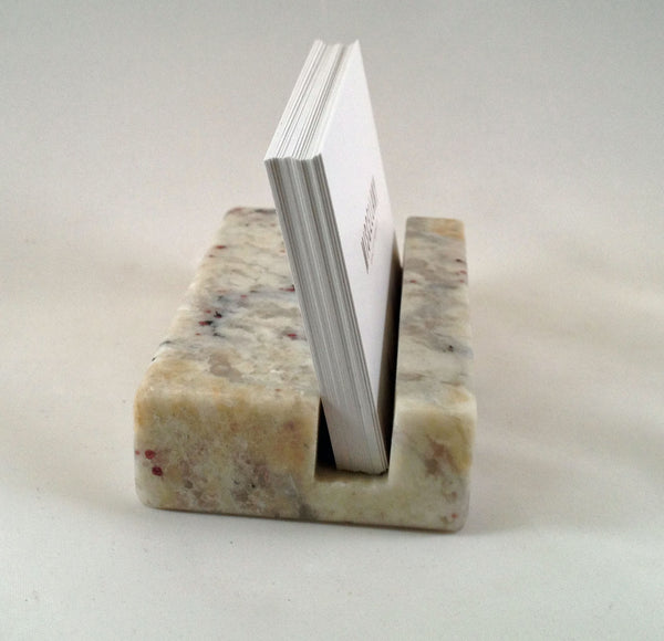 Business Card Holder - St Cecilia Granite