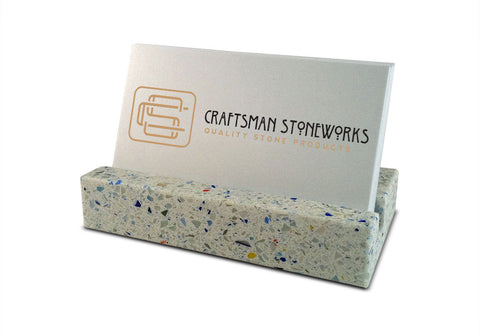 Business Card Holder - Confetti Quartz