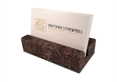 Business Card Holder - Purple Paradiso Granite
