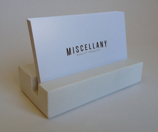 Business Card Holder - White Quartz