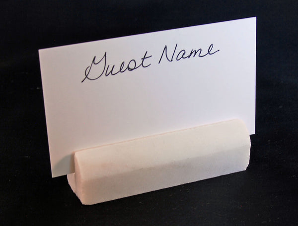 25 White Carrara Marble Wedding Name Card Holders