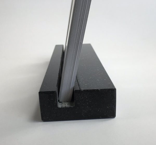 Multiple Verical Business Card Holder - Black Absolute Granite