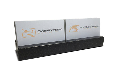 Multiple Business Card Holder - Black Absolute Granite