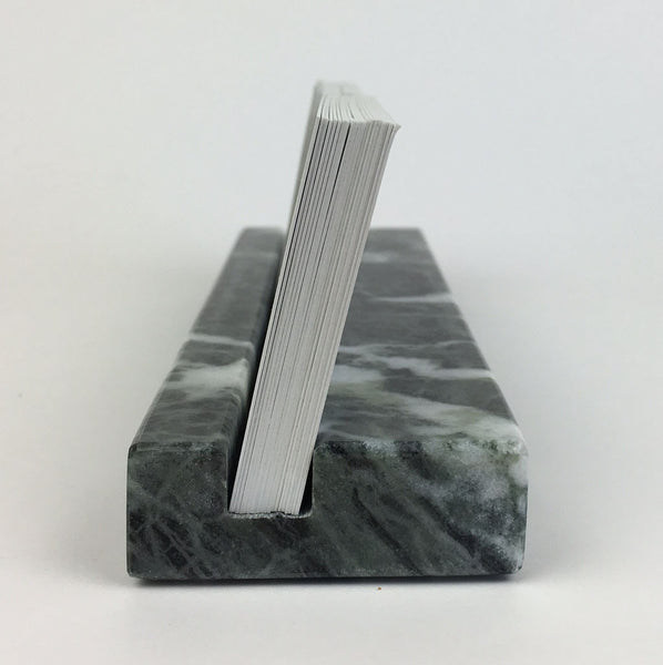 Multiple Business Card Holder - Green Marble