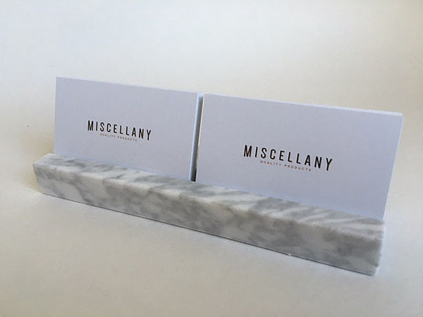 Multiple Business Card Holder - White Carrara Marble