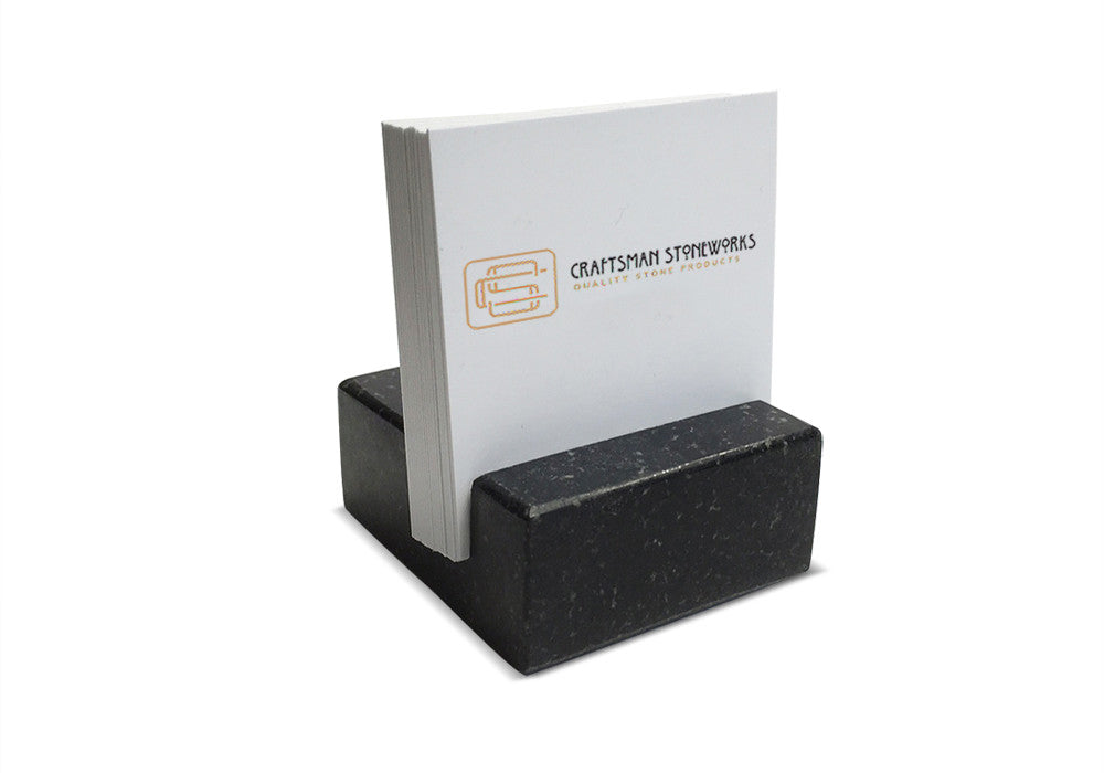 Square business card holder black absolute granite craftsman square business card holder black absolute granite colourmoves Images