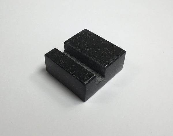 Square Business Card Holder - Black Absolute Granite