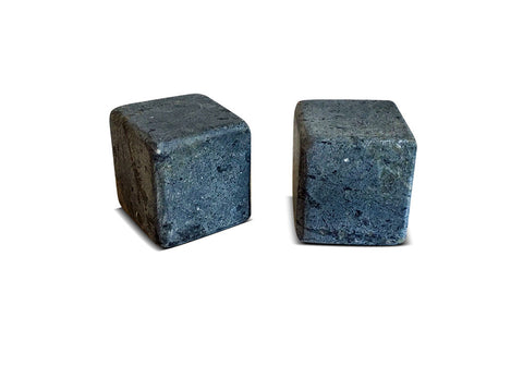 Whiskey Stones Soapstone Rock Ice Cubes - Large Size - Set of 2