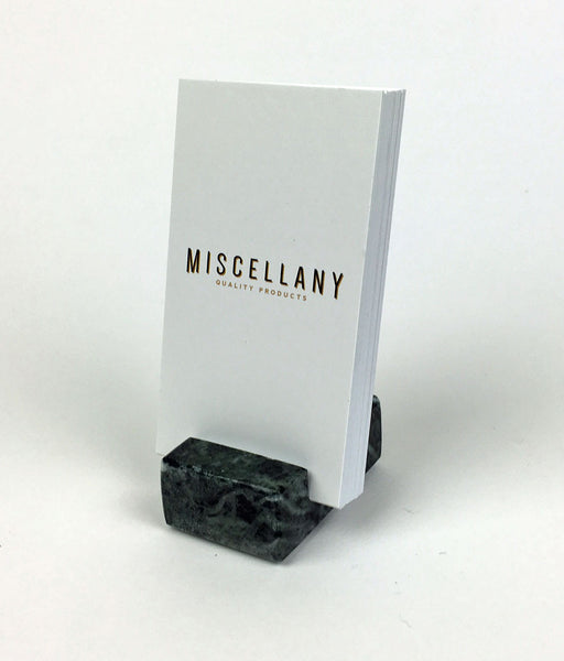 Vertical Business Card Holder - Green Marble