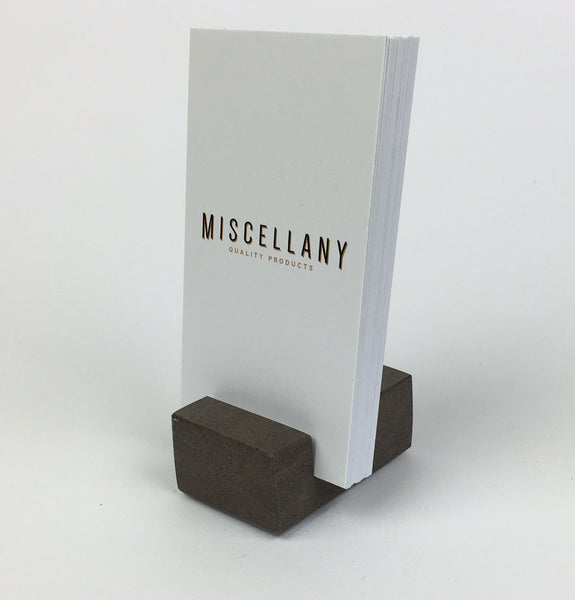 Vertical Business Card Holder - Brown Quartz